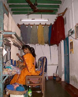 two girls in rooms with loom
